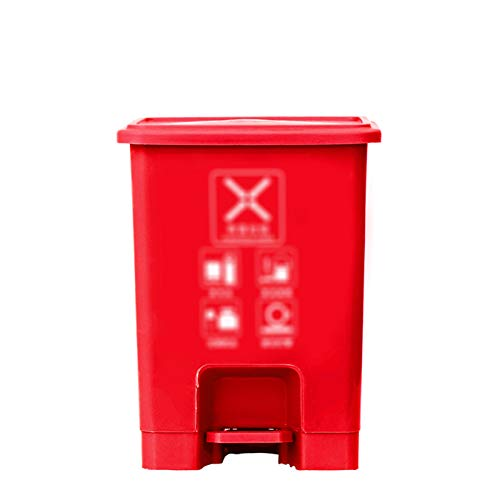 Outdoor trash can CSQ- Poubelle De Ménage, Bac De Recyclage De Cuisine en Plastique 15L pour Les Hôtels Restaurant KTV Bar Pédale De Bureau Poubelles Extérieures(Size:15L,Color:B)
