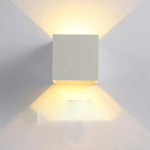 LLDKA metalen lampen, draaibaar, wandmontage, waterdicht, moderne verlichting, voor woonkamer, slaapkamer, eetkamer, wit