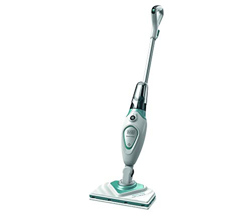 BLACK+DECKER Stick Handy Electric Steam Mop Vacuum Cleaner, 220V (Not for USA), White/Blue