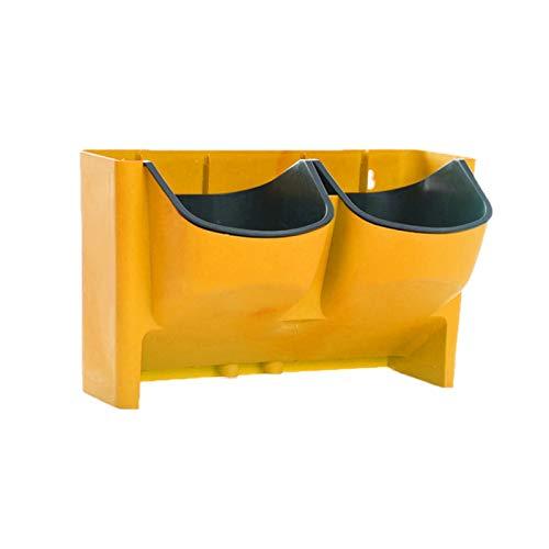 YSJJPQC Maceteros Auto riego Maceta apilable siembra Vertical Pared Colgando Duradero para jardín balcón Planta decoración casera Accesorios Flor (Color : Yellow)
