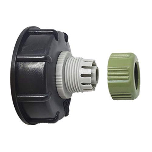 Ontracker Conexión rápida de válvula de tanque IBC para manguera de conexión de plástico de 60 mm con rosca gruesa alta