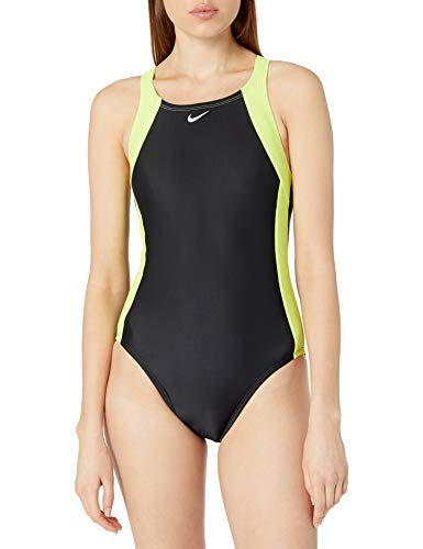 Nike Swim Women's Fast Back One Piece, Lemon Venom, 30
