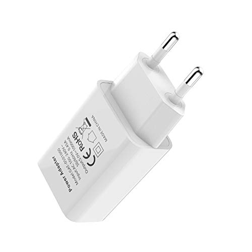 AIUIN USB Netzteil USB Stecker USB Ladegerät 1-Port DC 5V1A für Samsung Galaxy, Nexus, HTC, Motorola, LG und viele mehr (Weiß)