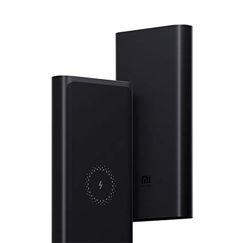 Xiaomi 10000mAh Mi Wireless Power Bank aus Aluminium (Ladung bis zu 3 Geräte gleichzeitig per USB-A, USB-C (bis zu 18W) und Wireless (bis zu 10W), Ladestand-Statusanzeige, Laden mit 5V, 9V oder 12V)