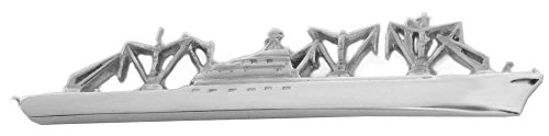 Unbekannt Cap San Diego Schiff Krawattennadel Krawattenklammer silbern glänzend m.i. Germany + Silberbox maritimes Accessoire Herren