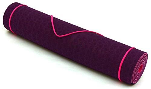 Fitem Tapis de Yoga/Gym Eco Natura TPE 183 x 61 x 0,6 cm ou 1 cm - Eco-Conscience & Hygiénique