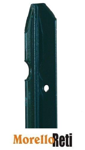 Paletto In Ferro Plastificato, Per Recinzione, Altezza 150cm ,Conf. 10 Pezzi