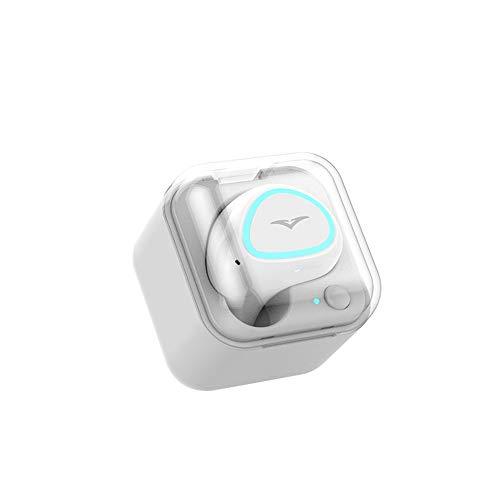 KCJMM Oordopjes, draadloze, echte HD-microfoon met draadloze oordopjes, sport-oordopjes en oplaadbox draagbaar, Wit