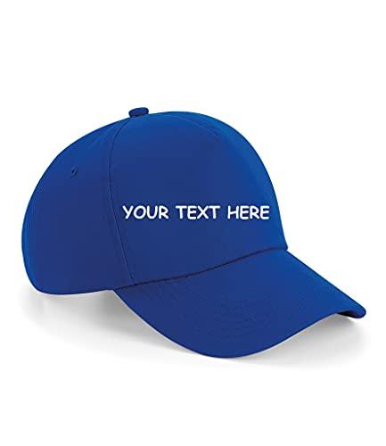 N2 Gorra de béisbol personalizada, 5 paneles, talla única, gorra de béisbol ajustable, personalizable, ideal para adultos, unisex, ocio, verano