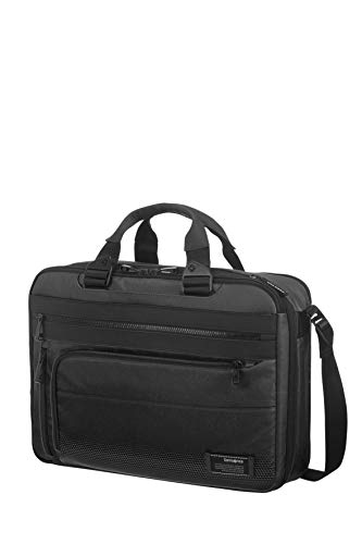 Samsonite Cityvibe 2.0 - Three-Way Expandable Aktentasche, 41 cm, 19.0 Liter, Jet Black