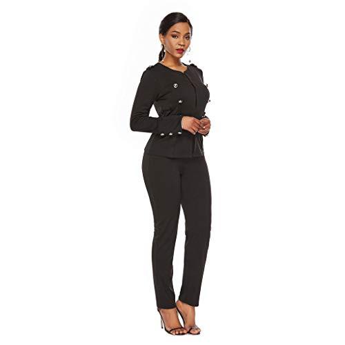 Eaylis Damen Blazer Elegant, Frauen Anzug Tops Arbeits Büro Solide Strickjacke Falten Langarm Slim Fit Dünne Übergangsjacke Business Formal Klage Mantel Womens Suit Coat Outwear