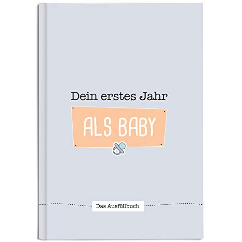 CUPCAKES & KISSES® Babybuch zum eintragen I Babytagebuch für Mädchen und Jungen I Baby Fotoalbum für Erinnerungen I Einzigartiges Geschenk zur Geburt