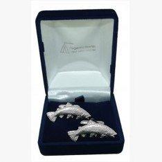 Pour pêche à la truite, cadeau Boutons de manchette Best Man/Usher, livrés dans un sachet en Organza