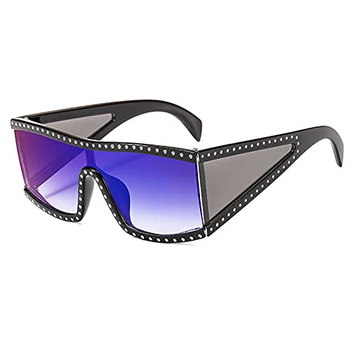 Gafas De Sol Gafas De Sol Cuadradas De Gran Tamaño Vintage para Mujer Y Hombre, A La Moda, con Montura Grande, A Prueba De Viento, Gafas De Sol para Hombre, Gafas De Conducción, Uv400 C3, Negro-A