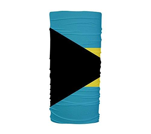 Bahamas Flag Multifunctional UV Protection Headband Face Dust Mask Bandana