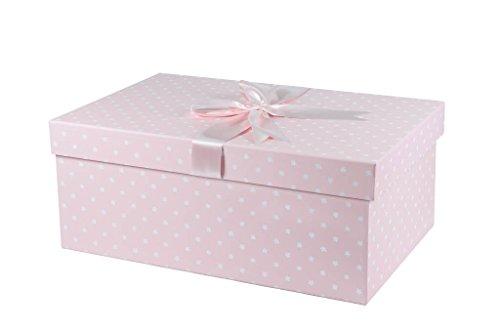 Extragroße Brautkleidbox X Large Einfache Blumen design 'SIMPLE FLOWERS ROSA' (75 cm x 50 cm x...