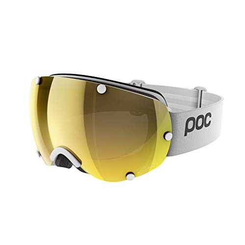POC Lobes Clarity Ski Brille, Hydrogen White/Spektris Gold, One Size