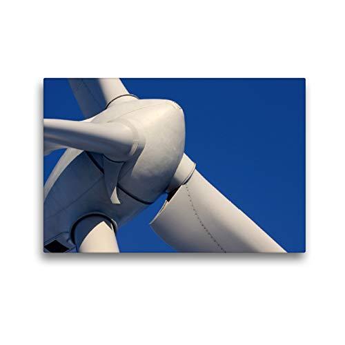 Premium Textil-Leinwand 45 x 30 cm Quer-Format Windkraftanlage | Wandbild, HD-Bild auf Keilrahmen, Fertigbild auf hochwertigem Vlies, Leinwanddruck von Martina Berg