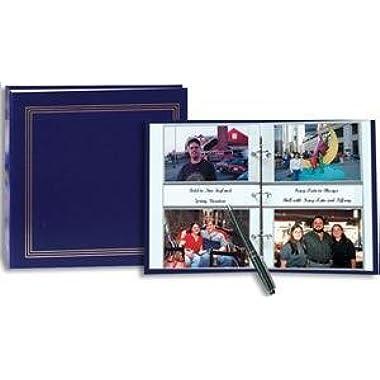 3-ring 2-up slip-in pocket NAVY-BLUE binder album for 400 photos - 4x6