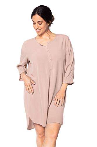 Levitex Cover Up Shirt Beachwear Bathing Suit Beach Dress (Pink, 40 (M))
