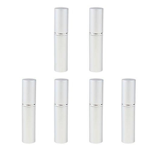 Fenteer 6 pcs 10ml Vaporisateur Parfum Rechargeable Brume Bouteille Atomiseur Pressé - Mèche
