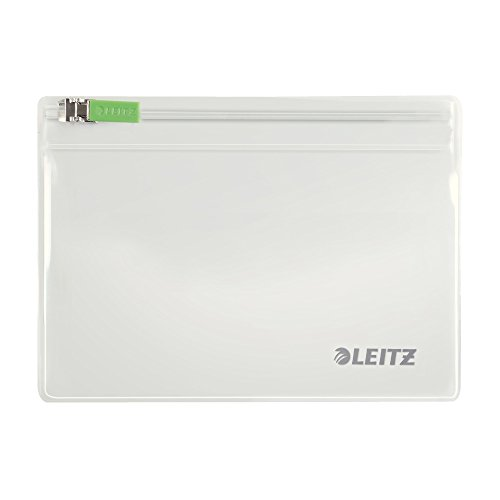 Leitz 2er-Pack Zip-Beutel (geeignet für Reiseutensilien, Gr. XS, PVC, Complete), Farblos, 40060000