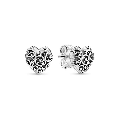 Pandora Pendientes de botón Mujer plata - 297693