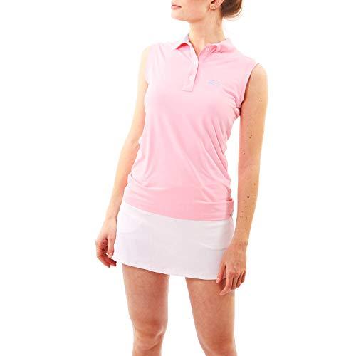 Sportkind Mädchen & Damen Tennis, Golf, Segeln, Funktions Poloshirt ärmellos, UV-Schutz UPF 50+, Hellrosa, Gr. S