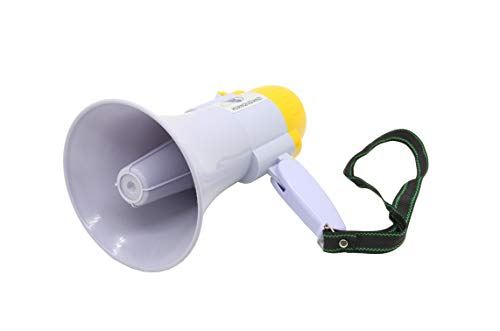 FixtureDisplays Portable Handheld Megaphone/Bullhorn with Siren, Loud Speaker 10 Seconds Voice Recorder 15959-NF
