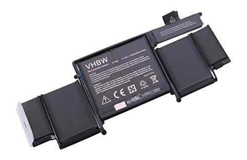 vhbw Li-Polymer Batterie 6500mAh (11.43V) pour Ordinateur Portable, Notebook Apple MacBook MF839LL/A, MF841LL/A, Pro 13' 2015 Retina comme A1582.