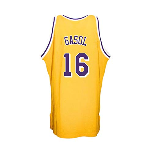 Zyf Camiseta Baloncesto Jersey Baloncesto De Los Hombres De PAU Gasol # 16, Transpirable Resistente Al Desgaste Bordó La Camiseta Camiseta, XS-XXL (Color : D, Size : XL)
