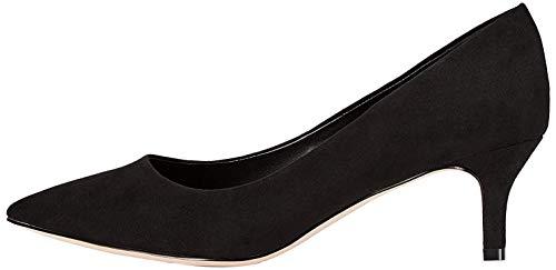 Amazon-Marke: FIND Kitten Heel Court Pumps, Schwarz (Black), 41 EU