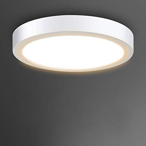 Surface Mount Led Ceiling Light-18W Round LED Panel Light, 3000K, Warm White for Kitchen,Closet, Bedroom, Cabinet 1440lm, Not-Dimmable(120 watt Halogen Bulb Equivalent)