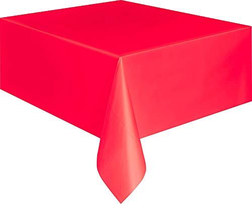 Mantel de Plástico - 2,74 m x 1,37 m - Rojo