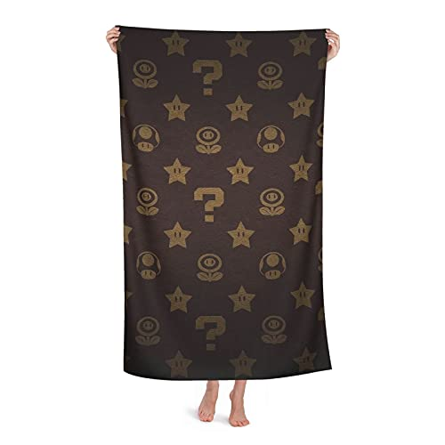 Mario Bath Towel Men women Skin-Friendly Family Bathroom Beach Picnic Sunbathing Quick Drying Super Absorbent Travel Gym Camping Pool Yoga 80cm x 130cm