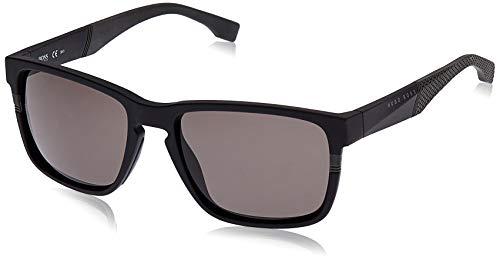 Hugo Boss Herren BOSS 0916/S NR 1X1 57 Sonnenbrille, Schwarz (Mtblack Grey/Brw Grey)