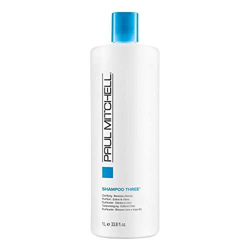 Paul Mitchell Shampoo Three - Tiefenreinigungs-Shampoo entfernt Chlorrückstände, für alle Haartypen, Haarpflege in Salon-Qualität, 1000 ml