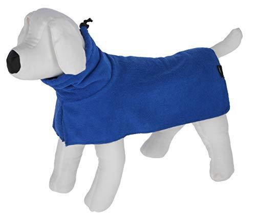 Kerbl Bademantel für Hunde   Hundebademantel aus saugfähigen Mikrofasern   in blau und in 5 verschiedenen Größen