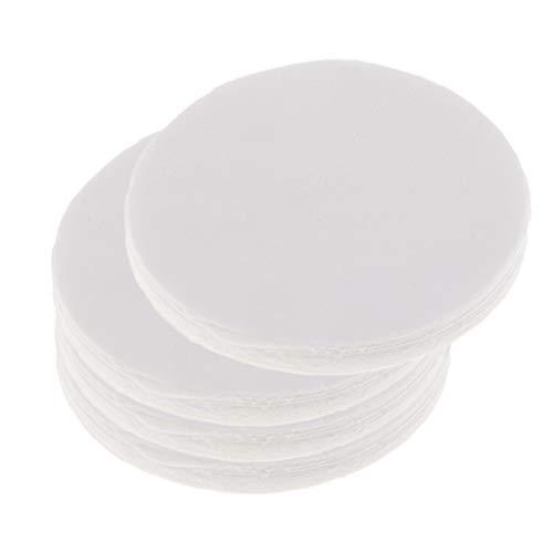 chiwanji 40x 115mm Keramikfaser Isolierpapier, Rundes Mikrowellenofenpapier