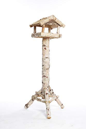 Weidenprofi Vogelhäuser, Vogelhaus mit Standfuss aus Birkenholz, Dach aus Schilfrohr, eckiges Design, (LxBxH) 45 x 40 x 140 cm