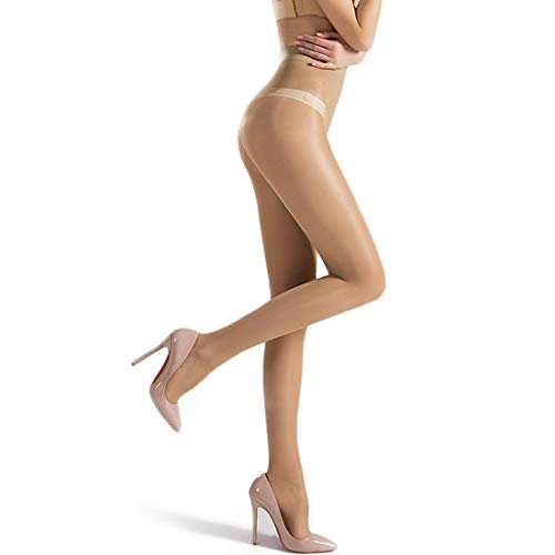 HTRUIYATY Pantimedias de Microfibra Para Mujer, 40 DEN Medias Jacquard Mariposa Mujer Sexy Bikini Pantys - Negro