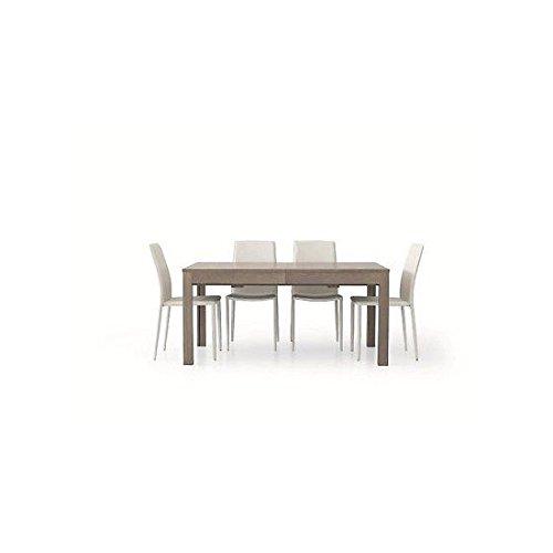 Estense - Tavolo Legno Moderno ALLUNGABILE Colore Rovere Grigio 160X90-332X90 Temp - 560