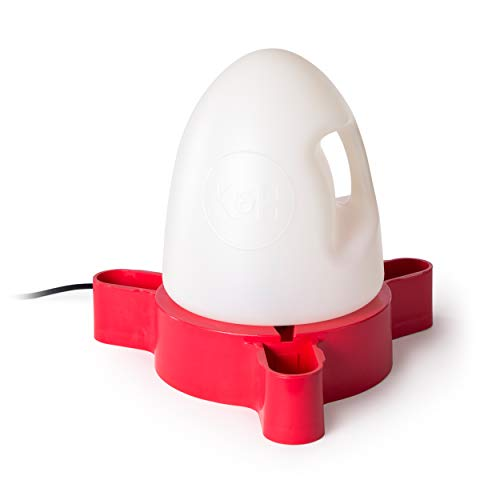 K&H PET PRODUCTS Thermo-Duck Waterer 2.5gal. (Heated) Red - MET Safety Listed - 60 Watts - No Splash No Mess No Mud Design