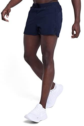 TCA Pace 3-Inch Herren atmungsaktive Laufshorts mit Reißverschlusstaschen - Dunkelblau, L