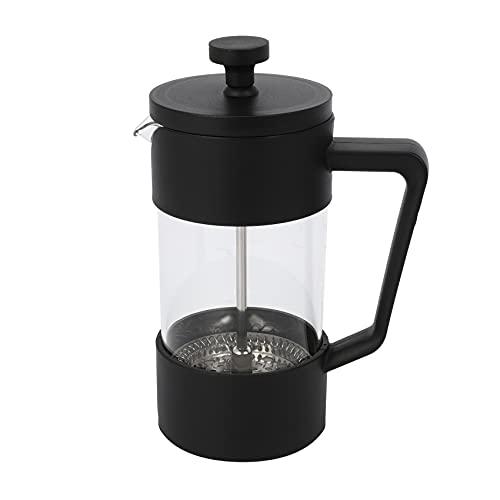Dciustfhe French Press Kaffee- und Tee Kocher 12Oz, Eingedickte Borosilikat Glas Kaffee Presse Rostfrei und SpüL Maschinen Fest, Schwarz