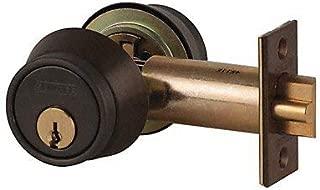 Schlage B250PD-613 Grade 2 Deadlatch-Single Cylinder, 613 - Oil Rubbed Bronze, 2-3/8