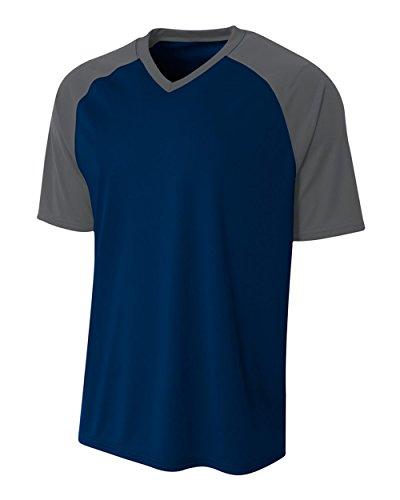 A4 Sportswear Navy/Graphite Adult XL Strike Jersey (Blank)