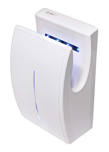 Secador de chorro Secador de manos Jet Dryer Compact Jet Air Blanco para baños Baños Baños Sin pisos mojados El secador de manos más pequeño