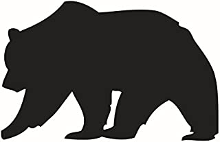 DNVEN 22 inches x 14 inches Big Black Bear Silhouette Memorandum Chalkboard Blackboard Vinyl Wall Decals Kids Removable Stickers for Kids Rooms Nursery