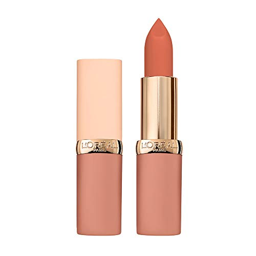 L'Oréal Paris Color Riche Ultra Matte Free the Nudes 01 No Obstacles, farbintensiver Lippenstift im zarten Nude-Ton, ultra-mattes Finish